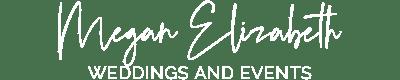 Megan Elizabeth Weddings Events Logo